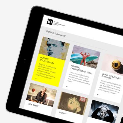 Strona internetowa dla Teatru Nowego w Poznaniu