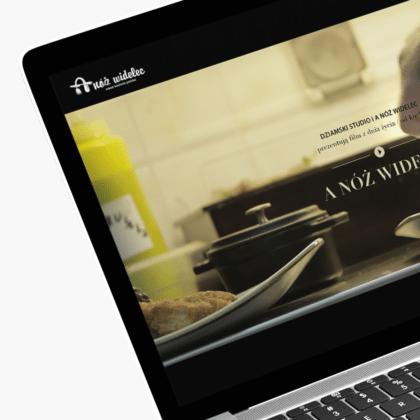 Strona internetowa dla restauracji A Nóż Widelec