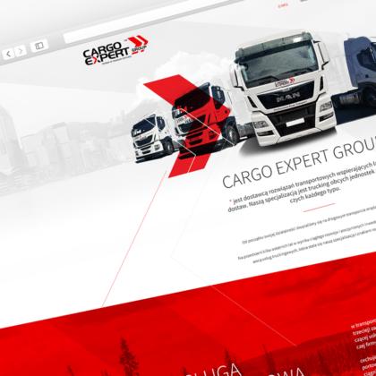 Strona internetowa dla przewoźnika kontraktowego Cargo Expert Group