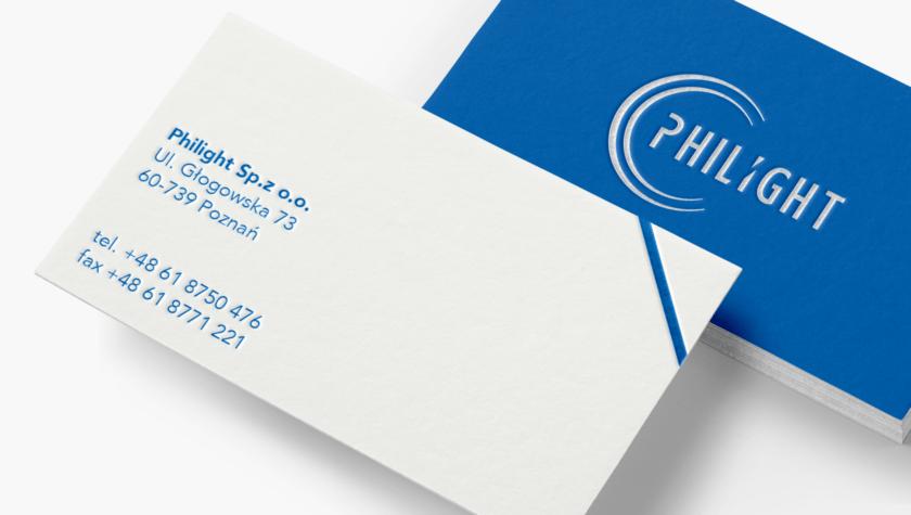 Projekt wizytówek Philight