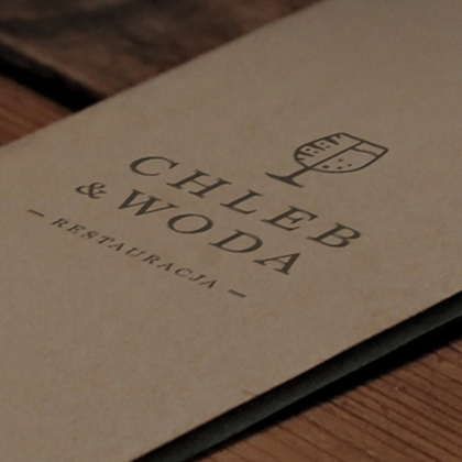 Identyfikacja wizualna dla restauracji Chleb & Woda