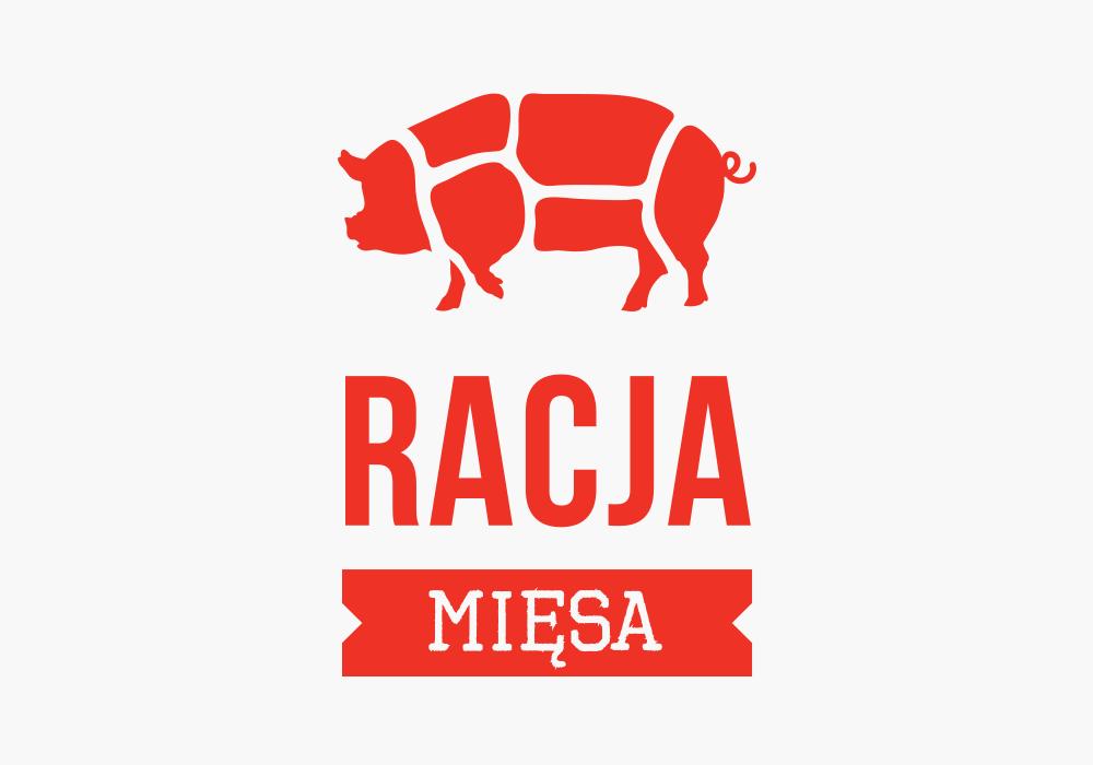 Identyfikacja wizualna dla restauracji Racja Mięsa
