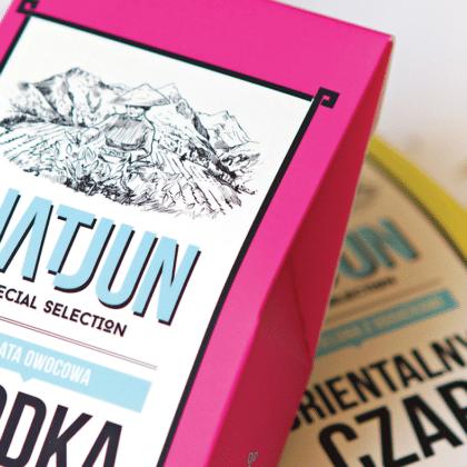 Identyfikacja wizualna dla producenta herbat i soków Natjun