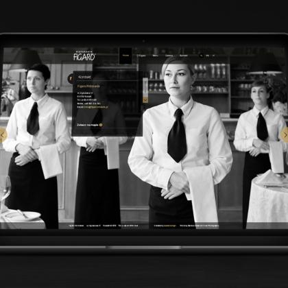 Strona internetowa dla restauracji Figaro w Poznaniu