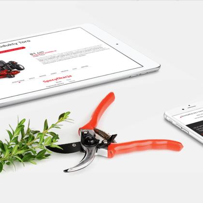 Strona produktowa kosiarki Toro dla hobbystów