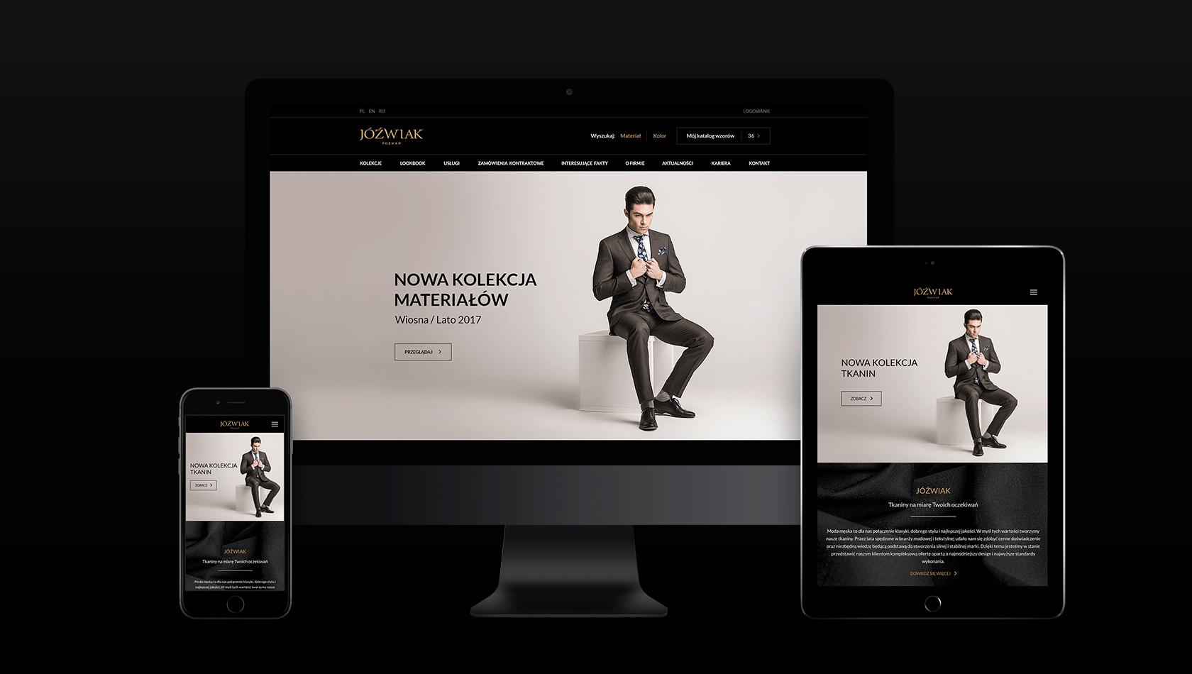 Strona internetowa dla poznańskiego producenta tkanin Jóźwiak