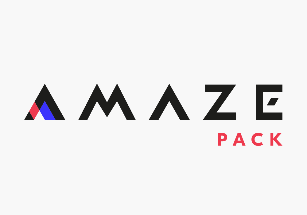Visual identity for the Amazepack packaging manufacturer
