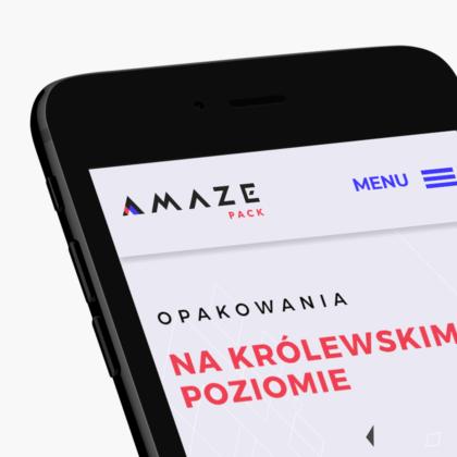 Strona internetowa dla producenta opakowań Amazepack