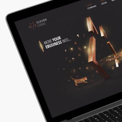 Projekt strony internetowej dla specjalistów od sklepów Clever Code