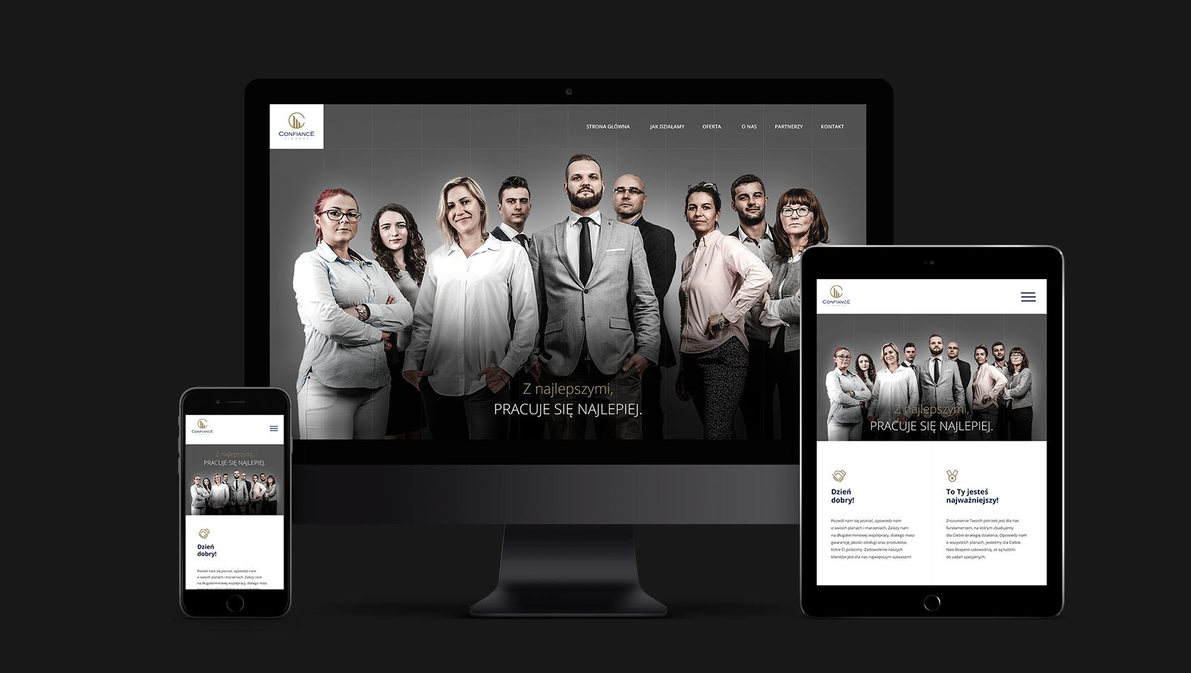 Strona internetowa dla doradców z Confiance