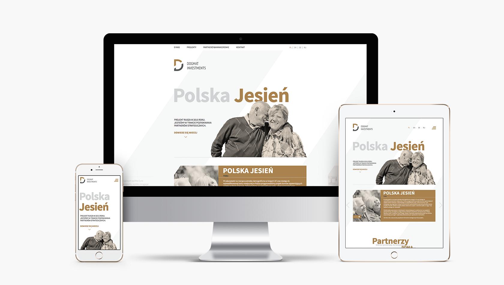 Strona internetowa dla firmy Dogmat Investments