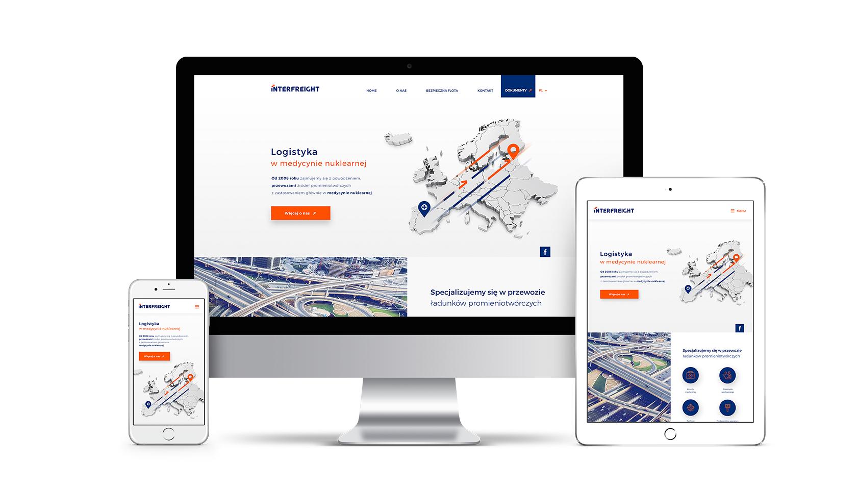 Strona internetowa dla Interfreight