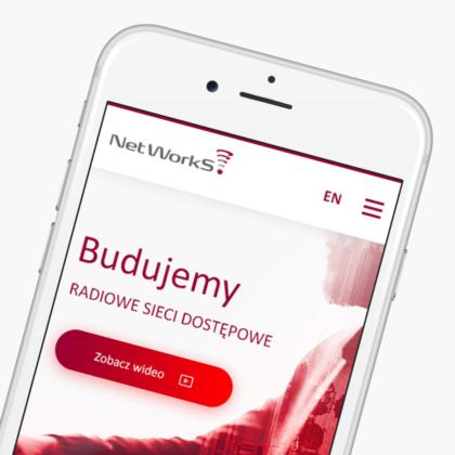 Strona internetowa dla ekspertów z branży telekomunikacyjnej NetWorkS!