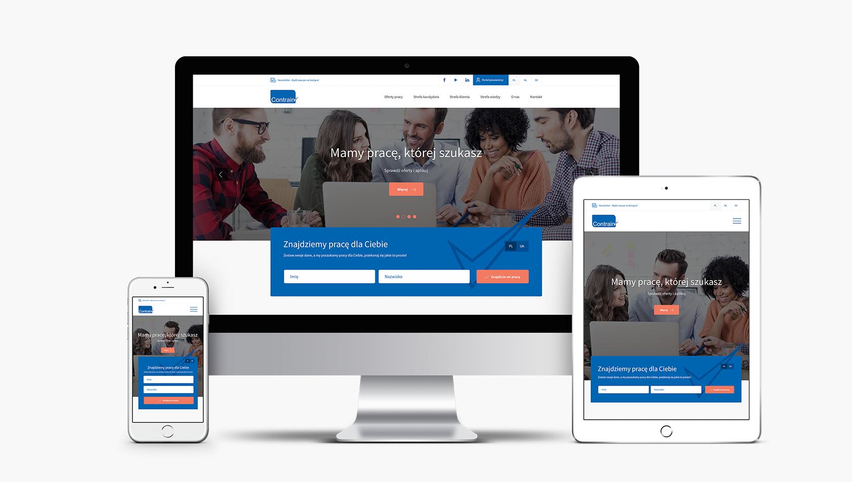 Strona internetowa dla ekspertów HR z Contrain