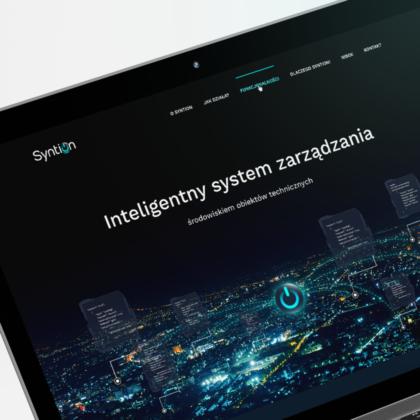 Strona internetowa dla systemu Syntion
