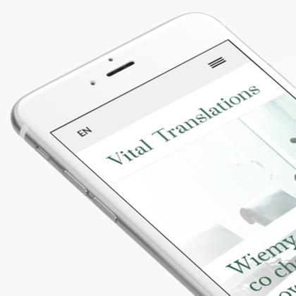 Strona internetowa dla biura tłumaczeń Vital Translations